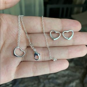 925 sterling silver necklace and earrings set